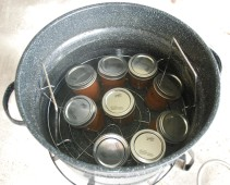 Place in jars and boil 5 minutes