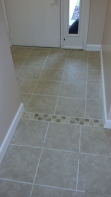 Transitions help break up the rooms and make tiling easier