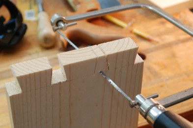 Remove waist with a coping saw