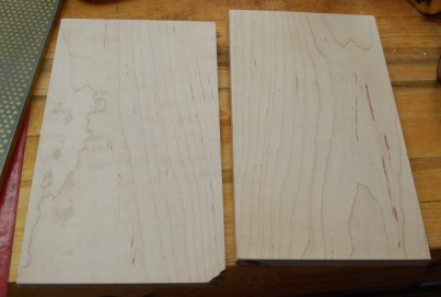 Re-sawn maple
