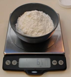 Scooped flour