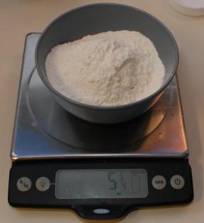 Spooned flour