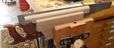 The saw vise is clamped by my front vise